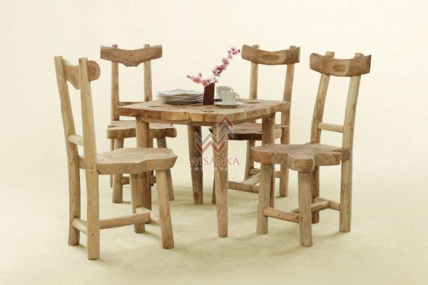 Reclaimed tawang dining set